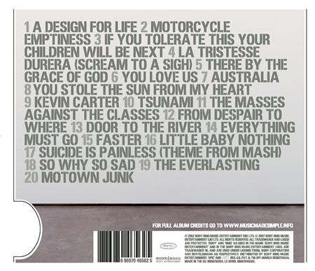 Manic Street Preachers - Forever Delayed The Greatest Hits [disc 1] - Zortam Music