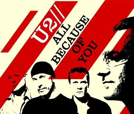 U2 - All Because Of You (Mexican Promo CD) [U2PRO 4] - Zortam Music