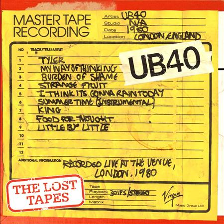 Ub40 - The Lost Tapes Live At The Venue 1980 - Zortam Music