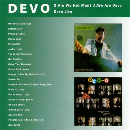 DEVO - Q Are We Not Men A We Are Devo/devo Live - Zortam Music